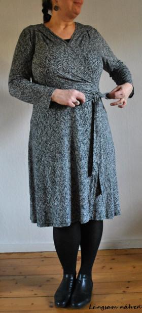 Wickelkleid aus Jersey