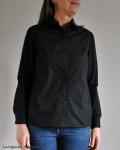 Klassische Hemdbluse in Schwarz